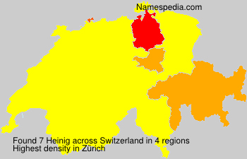 Surname Heinig in Switzerland