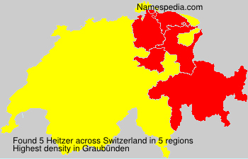 Surname Heitzer in Switzerland
