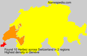 Surname Herbez in Switzerland