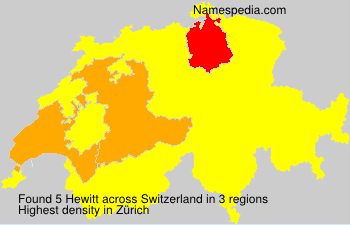 Surname Hewitt in Switzerland