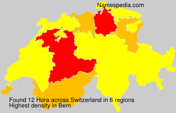 Surname Hora in Switzerland