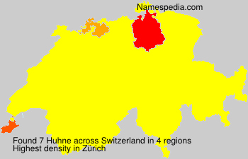 Surname Huhne in Switzerland
