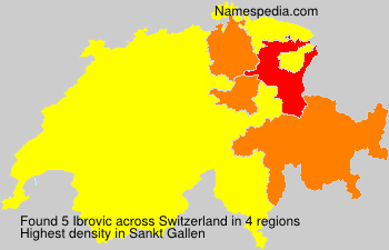 Surname Ibrovic in Switzerland