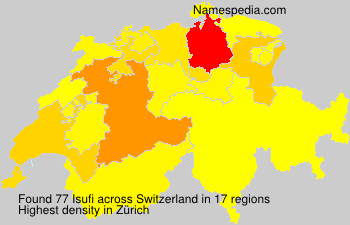 Surname Isufi in Switzerland
