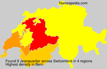 Surname Jeanquartier in Switzerland