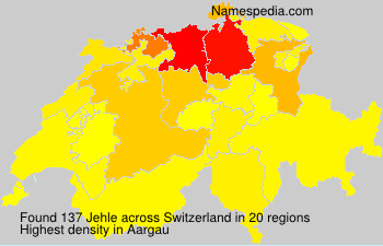 Surname Jehle in Switzerland