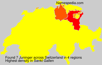 Surname Juninger in Switzerland