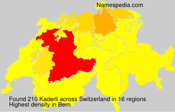 Surname Kaderli in Switzerland