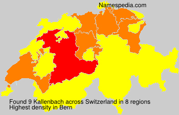 Surname Kallenbach in Switzerland