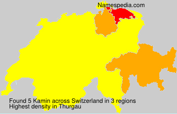 Surname Kamin in Switzerland