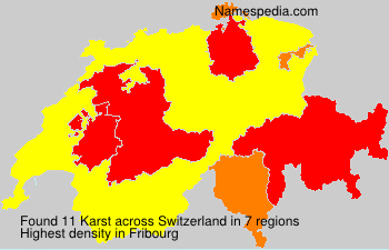 Surname Karst in Switzerland