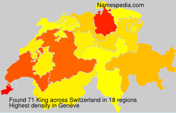 Surname King in Switzerland