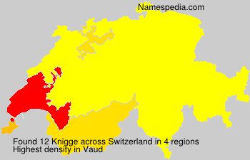 Surname Knigge in Switzerland