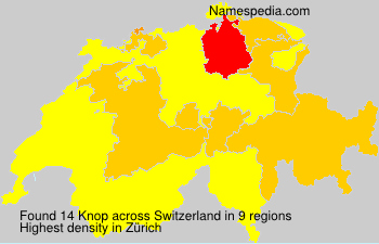 Surname Knop in Switzerland
