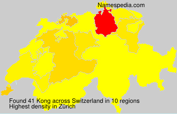 Surname Kong in Switzerland