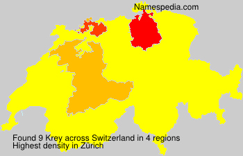 Surname Krey in Switzerland