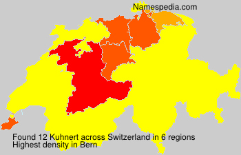 Surname Kuhnert in Switzerland