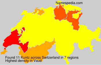 Surname Kuntz in Switzerland