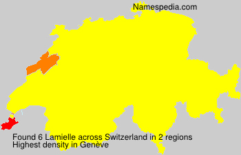 Surname Lamielle in Switzerland