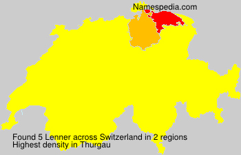 Surname Lenner in Switzerland
