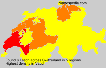 Surname Lesch in Switzerland