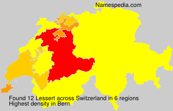 Surname Lessert in Switzerland