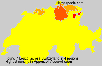 Surname Leucci in Switzerland