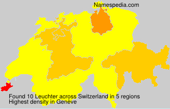 Surname Leuchter in Switzerland