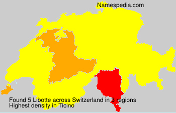 Surname Libotte in Switzerland