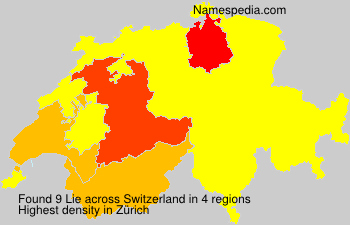 Surname Lie in Switzerland