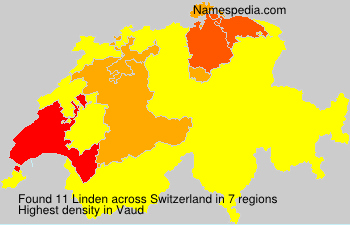 Surname Linden in Switzerland