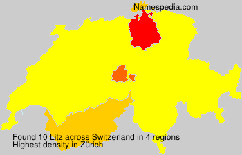 Surname Litz in Switzerland