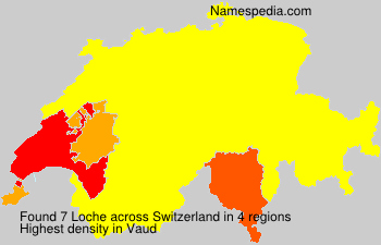 Surname Loche in Switzerland