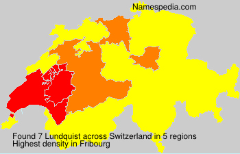 Surname Lundquist in Switzerland