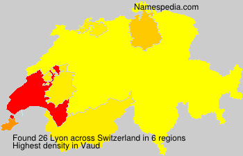 Surname Lyon in Switzerland