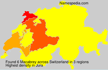 Surname Macabrey in Switzerland