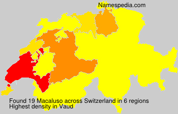 Surname Macaluso in Switzerland