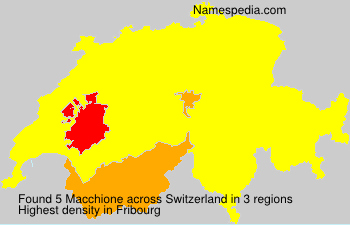 Surname Macchione in Switzerland