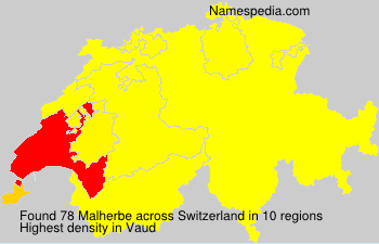 Surname Malherbe in Switzerland