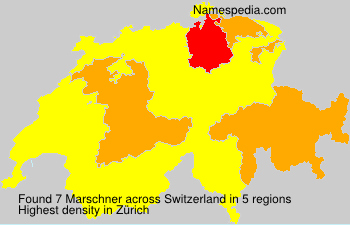 Surname Marschner in Switzerland