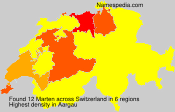 Surname Marten in Switzerland