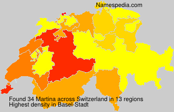 Surname Martina in Switzerland