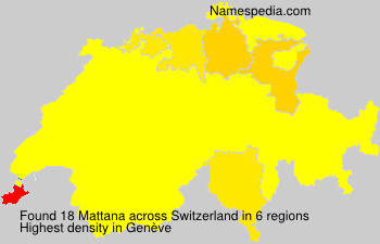 Surname Mattana in Switzerland