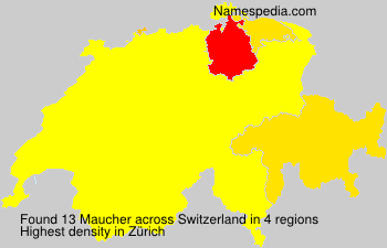 Surname Maucher in Switzerland