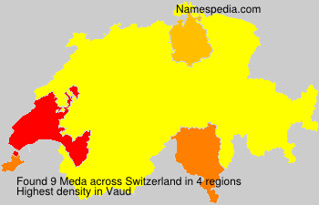 Surname Meda in Switzerland