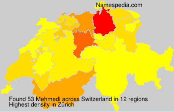 Surname Mehmedi in Switzerland