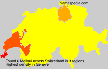 Surname Melloul in Switzerland