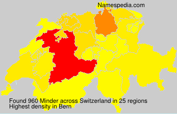 Surname Minder in Switzerland