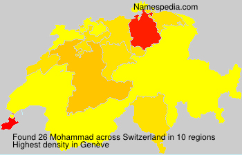 Surname Mohammad in Switzerland