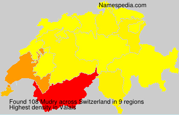 Surname Mudry in Switzerland